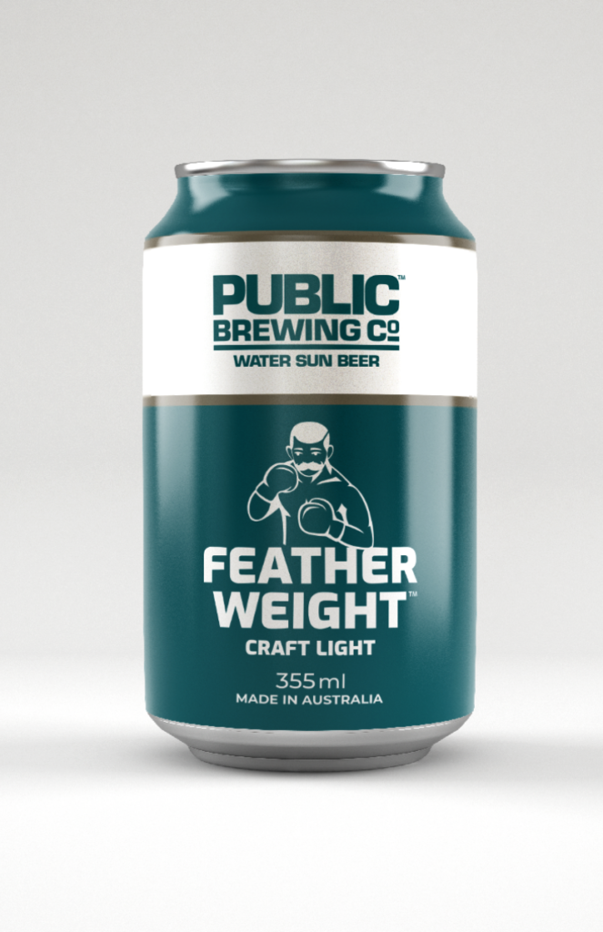 feather weight craft light beer